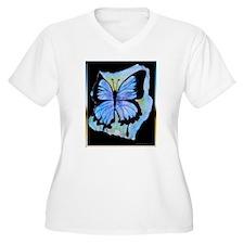Blue butterfly! Nature art! Plus Size T-Shirt
