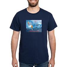 Flaming Penguin         T-Shirt