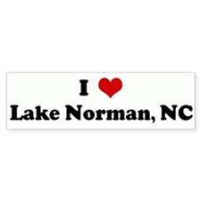 I Love Lake Norman, NC Bumper Car Sticker
