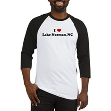 I Love Lake Norman, NC Baseball Jersey