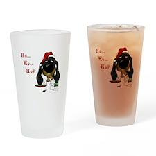 Doxie Santa Drinking Glass