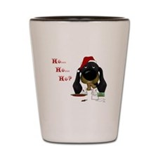 Doxie Santa Shot Glass