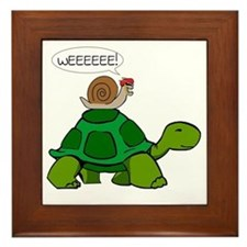 Snail & Turtle Framed Tile