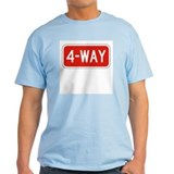 4-Way To Stop - USA Ash Grey T-Shirt