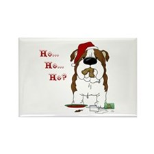 Bulldog Santa Rectangle Magnet (10 pack)
