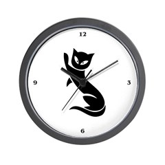Cat: Feline image - Wall Clock