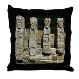 White Island Figures Throw Pillow