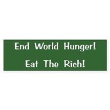 End World Hunger Bumper Bumper Sticker