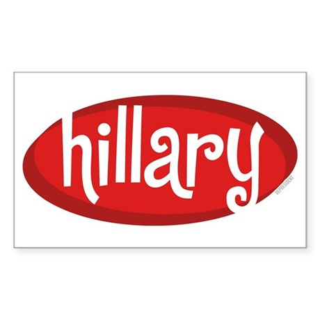 Retro Hillary Rectangle Sticker
