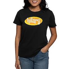 Retro Hillary Women's Black T-Shirt