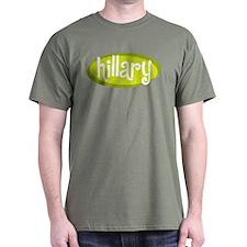 Retro Hillary Military Green T-Shirt