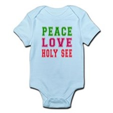 Peace Love Holy See Infant Bodysuit