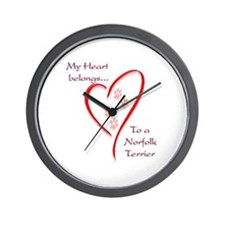 Norfolk Heart Belongs Wall Clock