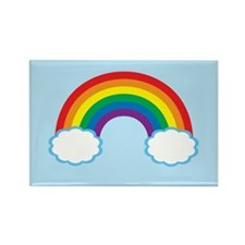 Pretty Rainbow Rectangle Magnet