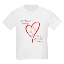 Norwich Heart Belongs Kids T-Shirt