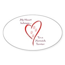 Norwich Heart Belongs Oval Decal