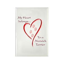 Norwich Heart Belongs Rectangle Magnet