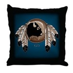 Native Art Throw Pillow Wildlife Artwork