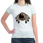 Native Art Jr. Ringer T-Shirt Wildlife Artwork