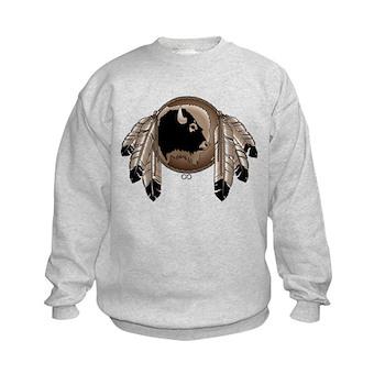 Native Art Kids Sweatshirt Cool Wildlife Artwork