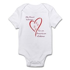 Eskimo Dog Heart Belongs Infant Bodysuit
