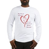 Am. Water Spaniel Heart Belongs Long Sleeve T-Shir