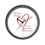 Aussie Heart Belongs Wall Clock