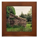 Vine Thatched Cottage Framed Tile