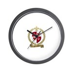 GUILLORY Family Crest Wall Clock