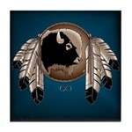 Native Art Tile Coaster Wildlife Artwork & Design
