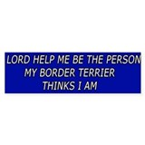 Cute and Funny Border Terrier Bumper Bumper Sticker