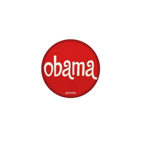 Retro Obama Mini Button (100 pack)