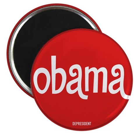 Retro Obama Magnet