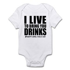 April Fools: Drinks Infant Bodysuit