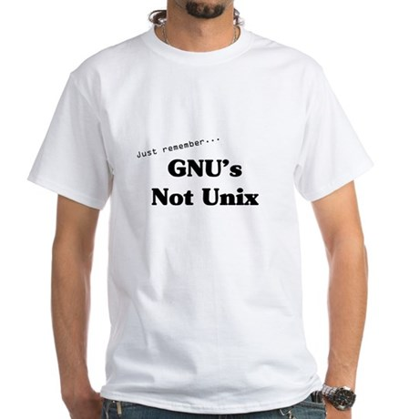 GNU's Not Unix White T-Shirt
