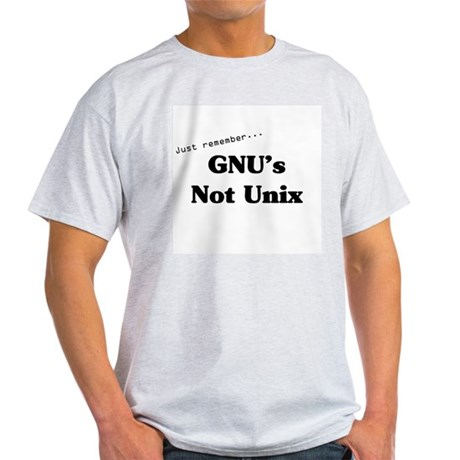GNU's Not Unix Ash Grey T-Shirt