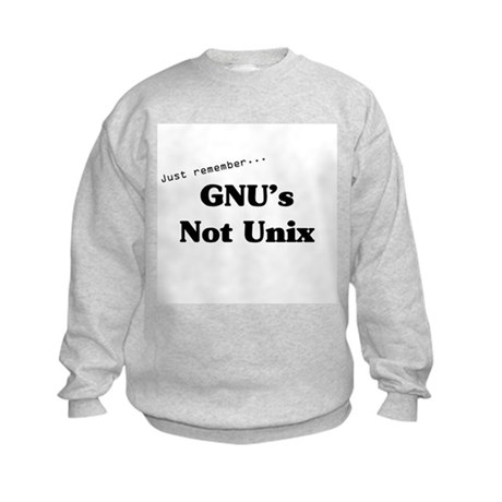 GNU's Not Unix Kids Sweatshirt