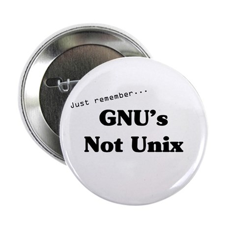 GNU's Not Unix Button