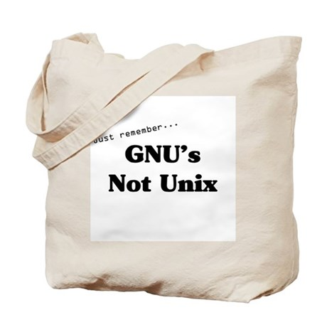 GNU's Not Unix Tote Bag