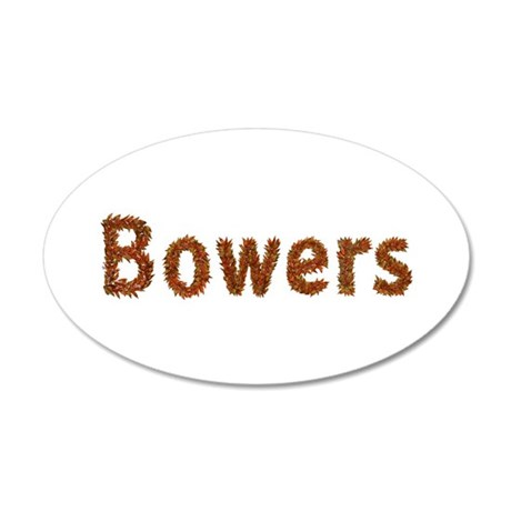 Bowers Fall Leaves 35x21 Oval Wall Decal