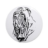Mastino Head Study Ornament (Round)
