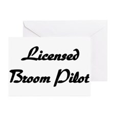 Licensed Broom Pilot Greeting Cards (Pk of 10)