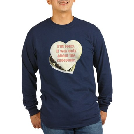 Chocolate Anti-Valentine Long Sleeve Dark T-Shirt