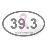 Avon Walk Oval Bumper Decal