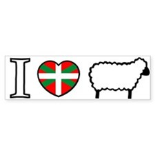 I Heart Sheep Bumper Bumper Sticker