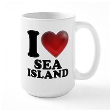 I Heart Sea Island Mugs