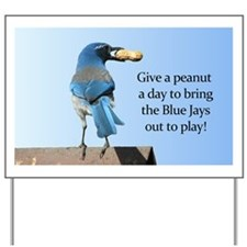 Blue Jay and Peanut Yard Sign