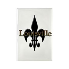 Louisville Fleur de Lis Rectangle Magnet