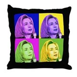 '08 President Hillary Clinton Throw Pillow