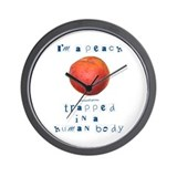 I'm a Peach Wall Clock